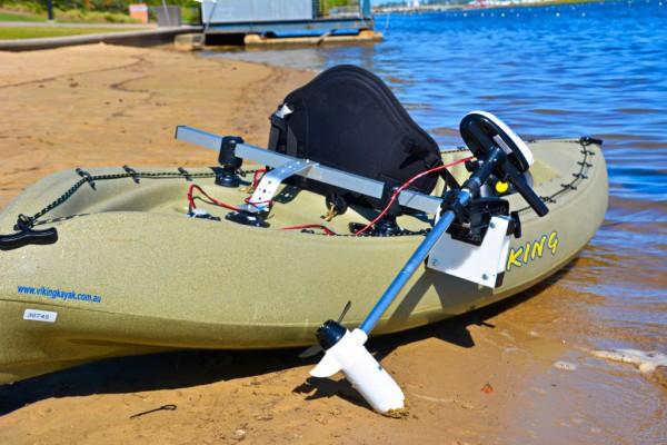 Customer Made Kayak Motor Mount Bracket, to suit all kayaks | RAILBLAZA