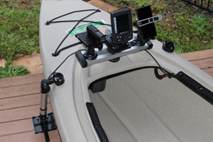 removable fishfinder install to malibu sierra 10 kayak railblaza